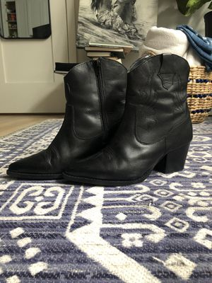 Nasty Gal - SIZE 5 Black Leather Western Cowboy Ankle Boots for Sale in Los Angeles, CA
