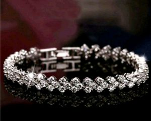 $8 brand new 7.5 inch silver plated CZ bracelet for Sale in Manchester, MO