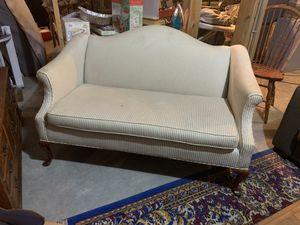Beige Pinstripe Love Seat for Sale in Manheim, PA