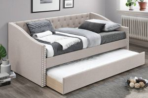 Special ‼️ Twin/Twin Light Brown Day bed w/ Trundle (Mattress Not Included)• Delivery Available! 🚚📦 for Sale in Las Vegas, NV