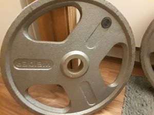 Weider 45 lb. Olympic weight set for Sale in CANAL WNCHSTR, OH