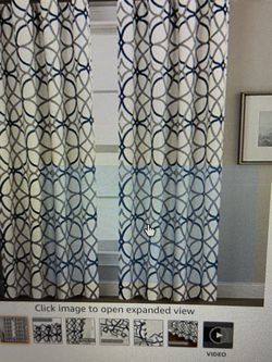 """New - Blackout Curtains 52""""W x 96""""L Gray/Navy (2 Panels) for Sale in Spring,  TX"""
