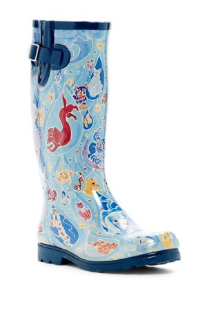 NOMAD brand rain boots! Cats and Dogs artwork! for Sale in San Antonio, TX