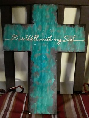 Cross wooden plaque It Is Well with My Soul for Sale in Pomona, CA
