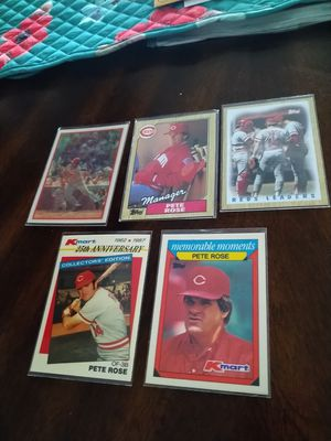 Pete Rose Cincinnati Reds Legend Baseball Cards lot for Sale in Tampa, FL