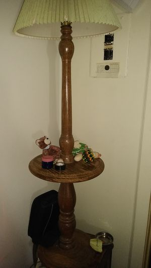 Vintage all wooden lamp for Sale in Tucson, AZ