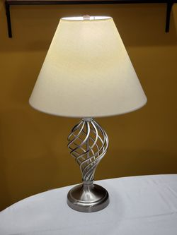 Lamp with White Fabric Shade for Sale in Hawthorne,  CA