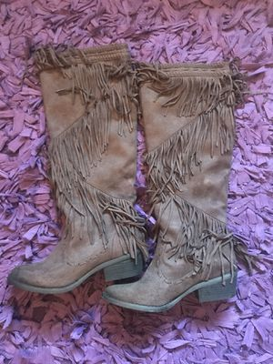 Not Rated Fringe Boots Size 6 for Sale in Orangevale, CA