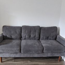 Adorable Mid Mod Gray Sofa for Sale in Salt Lake City,  UT
