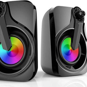 Computer Speakers, PC Speakers USB Powered 3.5mm Multimedia with RGB Light for Laptop, PC, Smartphone, TV (Colorful Speakers) for Sale in Chino Hills, CA