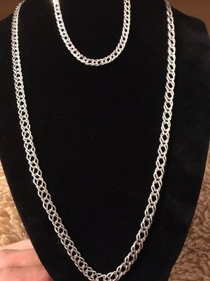 Silver 925MEX chain & bracelet set 🎁(100% Authentic) for Sale in Garden Grove, CA