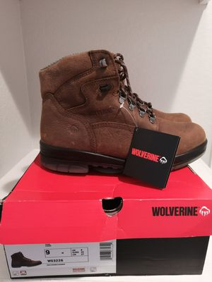 Brand new wolverine work boots for men. Size 9. Soft toe for Sale in Riverside, CA