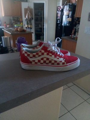Red checkard vans very good condition 25 firm need gone asap. Size 9 for Sale in Phoenix, AZ