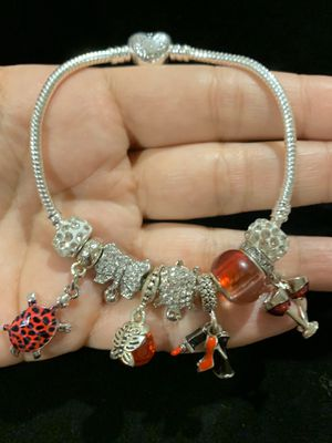 """Pandora style bracelet. bracelet size: 8"""". 20 cm. If you need another size of the bracelet, ask me I can change it. for Sale in Fullerton, CA"""
