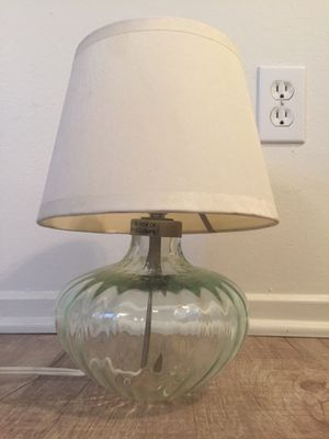 Turquoise Green Glass IKEA Lamp for Sale in Costa Mesa, CA