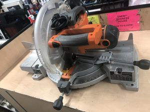 "Miter Box Saw, Tools-Power RIDGID 12"" Miter Saw W/Laser .. Negotiable for Sale in Baltimore, MD"