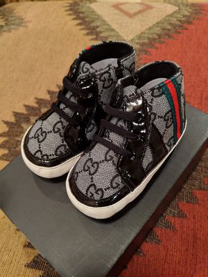 BRAND NEW BABY GUCCI SNEAKERS w/PATTON LEATHER ACCENTS ➡️ SIZE-3 for Sale in Sacramento, CA