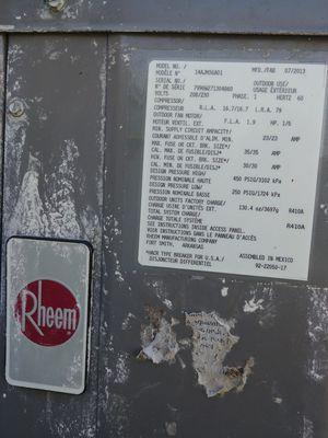 Rheem 5 Ton 14 SEER Air Conditioner Condenser and Ruud air conditioner condenser unit for Sale in West Palm Beach, FL
