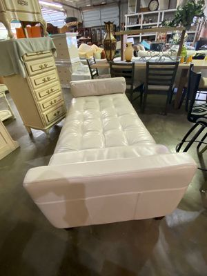 Beige Leather Couch for Sale in N REDNGTN BCH, FL