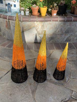 Like new set of 3 nestable indoor/outdoor Halloween Candy Corns. for Sale in San Jose, CA
