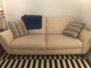 White leather sofa for Sale in Brooklyn, NY