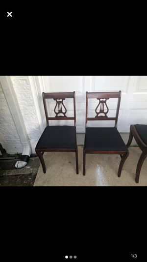 Two wooden antique chairs for Sale in Alexandria, VA