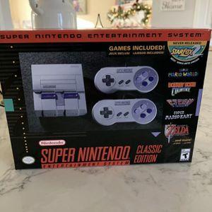 Authentic SNES Super Nintendo Classic Mini Super Entertainment System 21 Games for Sale in Union City, NJ