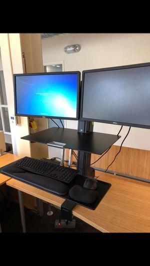 Ergotron Standing Desk and Dell Monitors for Sale in El Cerrito, CA