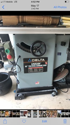 Delta unifence 52 inch fence Table saw for Sale in Cape Coral, FL