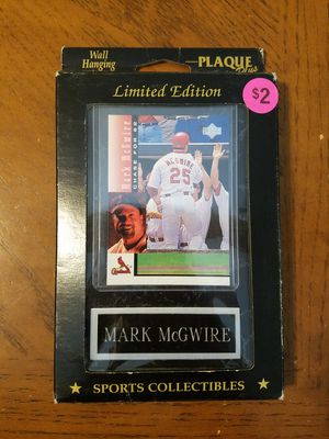 Mark McGwire baseball card plaque for Sale in Downers Grove, IL