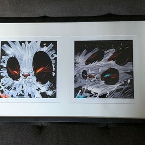 Angry Woebots Woes Duo Masher 1&2 Print Set Professionally Framed COA Signed for Sale in Los Angeles, CA
