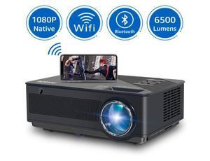 Native 1080p Full HD Projector, WiFi Projector, Bluetooth Projector, FANGOR 6500 Lumens/250 Display/ Contrast 8000: 1 Full HD Theater Projector for Sale in Rancho Cucamonga, CA
