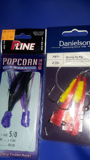 PLine Popcorn krill and Danielson shrimp fly rig for Sale in Fresno, CA