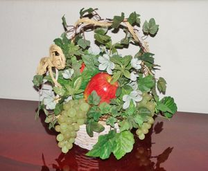 (FREE DELIVERY) faux artificial fake fruit flower plant basket decor ... $13 FIRM for Sale in North Las Vegas, NV