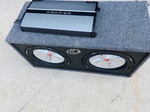 $350 no less/no menos / Kicker CVR 12s/ 2000 watt Monoblock Amp/ Kicker bass Box (wired to 1ohm) for Sale in Sanger, CA