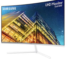 [NEW] Samsung 32-in UHD 4K Curved Monitor (UR591C) – 60Hz Refresh, Widescreen Computer Monitor, 3840 x 2160p Resolution, 4ms Response, Game Mode, HDMI for Sale in Kirkland,  WA