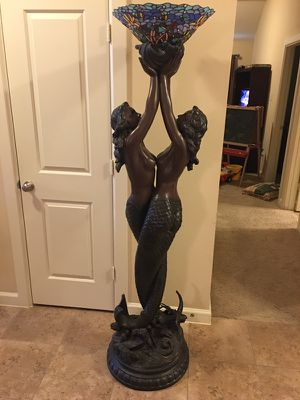"""74"""" Torchiere Floor Lamp Tiffany style for Sale in Houston, TX"""