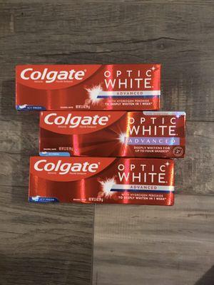Colgate optic white icy fresh toothpaste $2 each for Sale in San Bernardino, CA