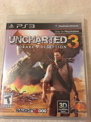 Uncharted 3 for the PS3-Rarely used-online pass code included for Sale in Texarkana, TX
