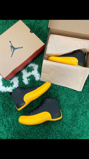 Jordan 12 Retro Black University Gold (MEN) for Sale in Eastvale, CA