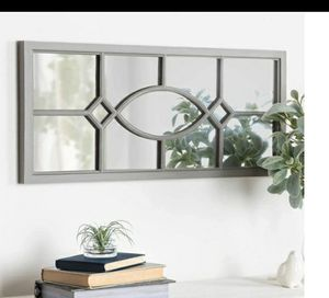 Framed wall accent mirror gray for Sale in Pico Rivera, CA