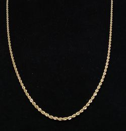 """3mm Gold Plated Rope Chain 24"""" Long for Sale in Norwalk,  CA"""