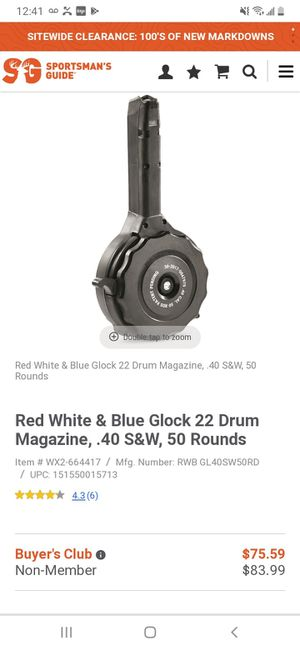 Glock 40 cal drum mag for Sale in North County, MO
