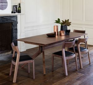 Quality High End Dining Set, Cross Extension Table, Møller Model 57/77 Side and Arm Chairs for Sale in Los Altos, CA