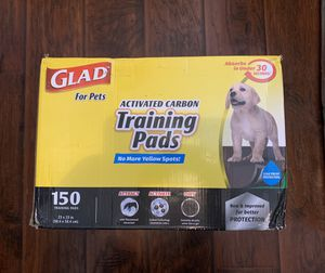 Glad activated carbon training pads 150ct for Sale in Willow Springs, IL