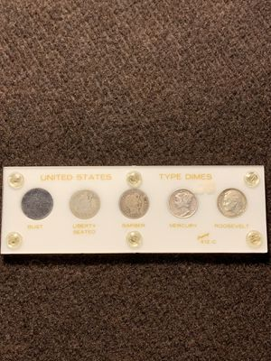Seated liberty dime, Barber dime, Mercury dime, Roosevelt dime (90% SILVER COINS) for Sale in El Cajon, CA