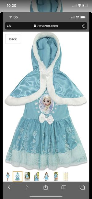 Disney Elsa dress with hooded cape for Sale in Pompano Beach, FL