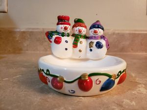 Small snowman candy dish for Sale in Jacksonville, FL