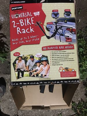 Bike Rack 2 bikes New in Box Universal Highland Sportwing for Sale in Chicago, IL
