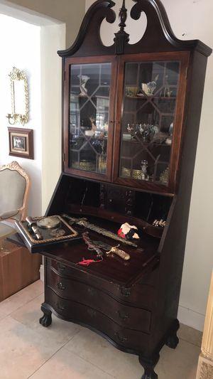 Secretary desk cabinet for Sale in Fort Lauderdale, FL